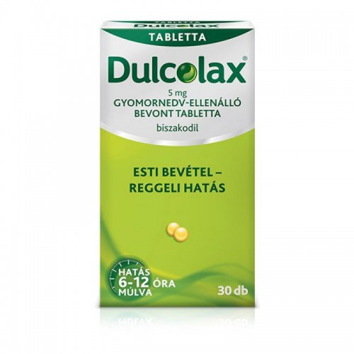 Dulcolax 5 mg gyomornedv-ellenálló bevont tabletta 30x