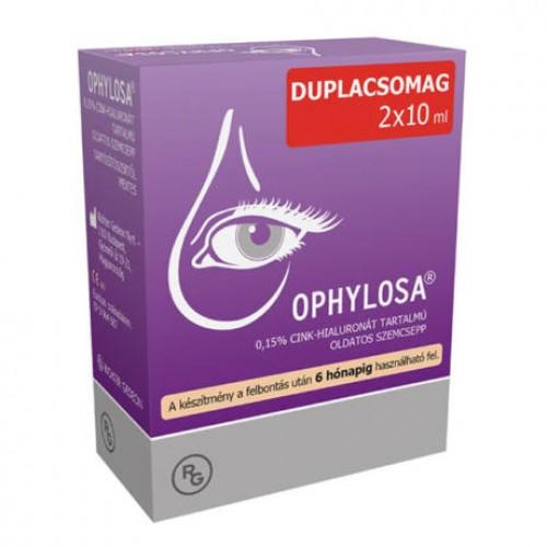 OPHYLOSA 0,15% OLDATOS SZEMCSEPP, DUOPACK 2X10ML