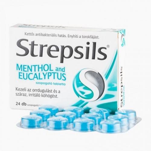 Strepsils Menthol and eucalyptus szopogató tabletta 24x