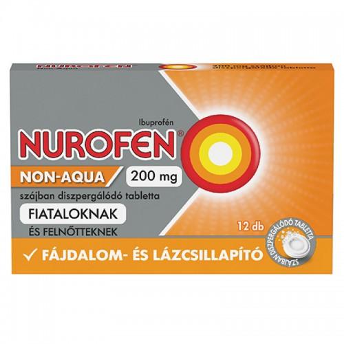 Nurofen Non-Aqua 200mg szájban diszpergálódó tabletta 12x
