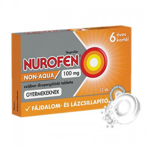 Nurofen Non-Aqua 100mg szájban diszpergálódó tabletta gyermekeknek 12x