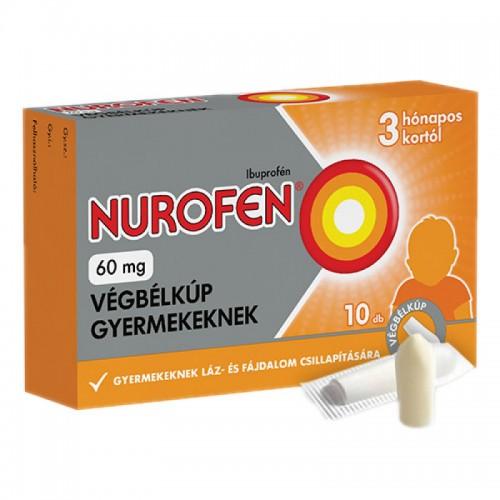 Nurofen 60 mg végbélkúp gyermekeknek 10x