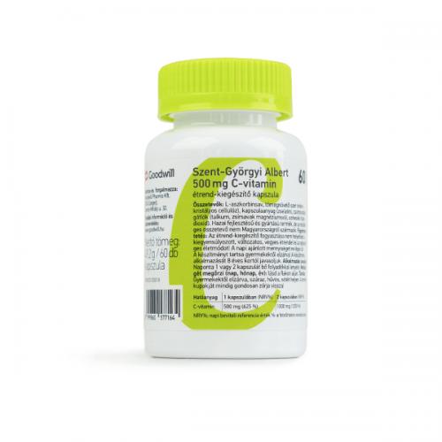 Szent-Györgyi Albert 500 mg C-vitamin kapszula 60x