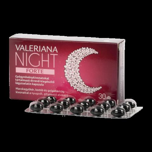 Valeriana Night Forte étrendkiegészítő kapszula 30x